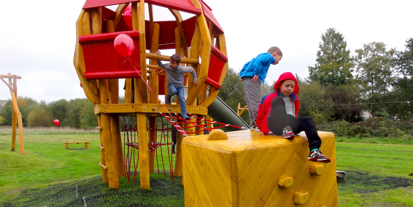 Opening Air-balloon Playground in New Haw for Runnymede B.C.