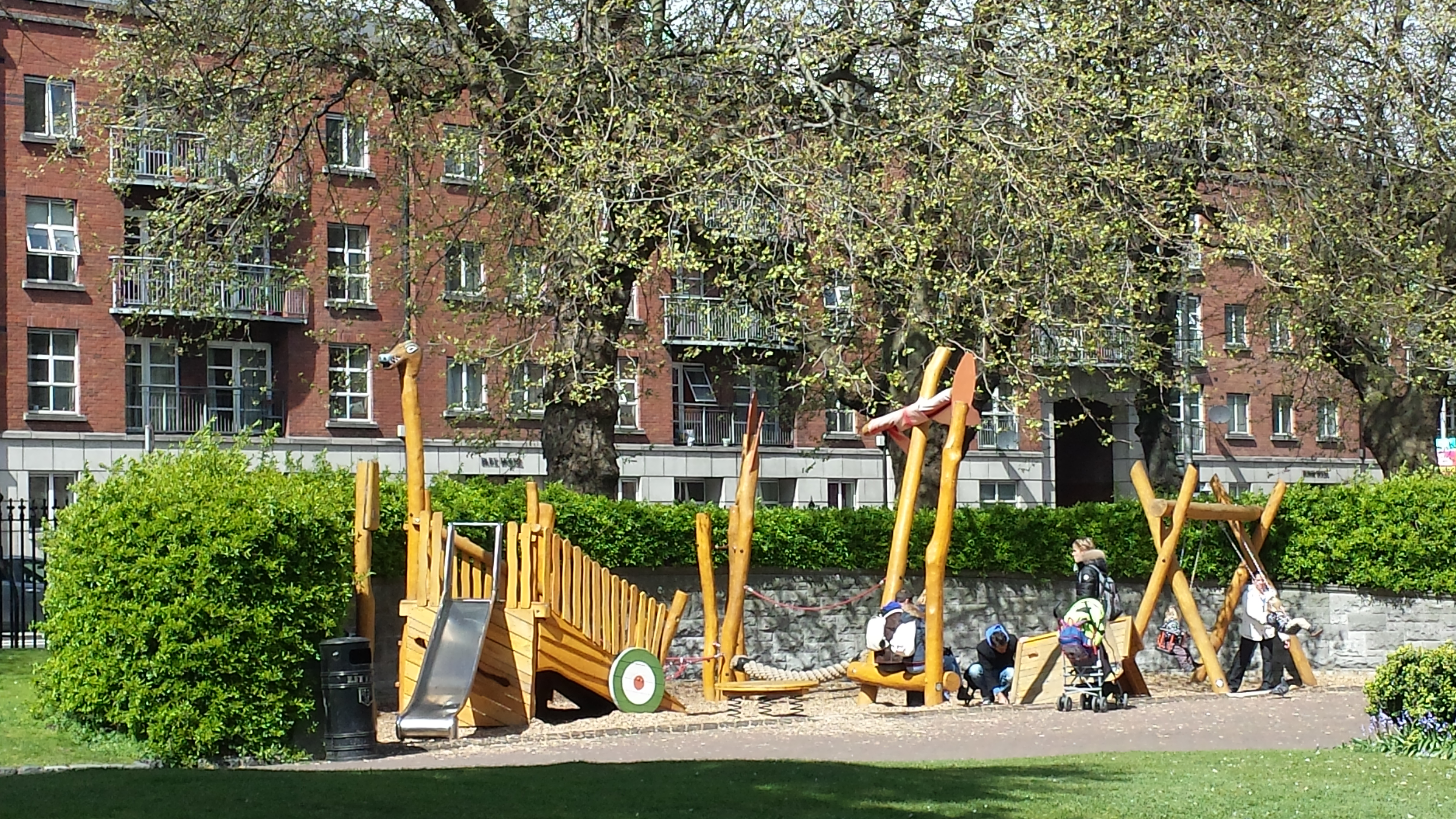 Playground for St. Patrick's Park in Dublin, located within the garden next to the cathedral