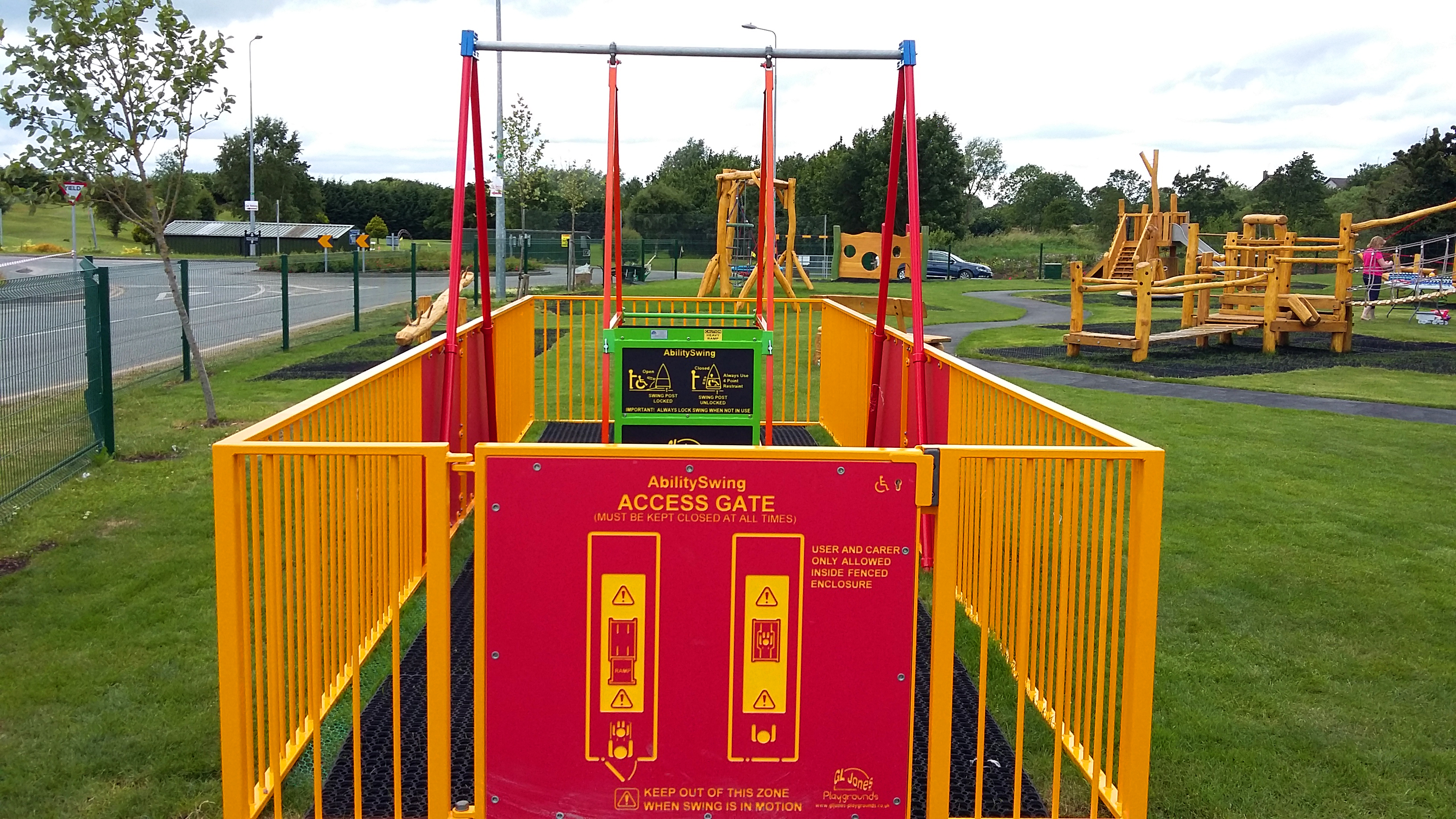 Wheelchair accessible swing