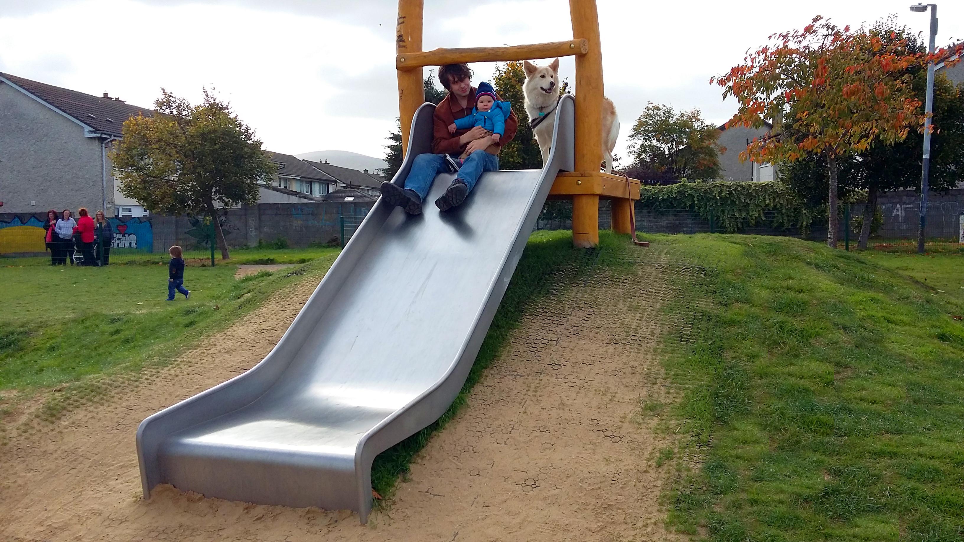 Slope slide h 1.2 m, width 1.00 m with platform - 5.141