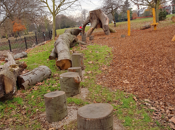 Playground for Acton Park in Ealing by CPCL 11.2016.