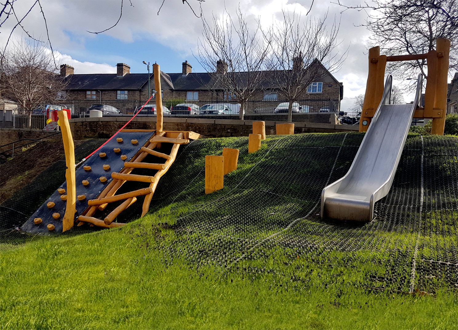 New Playground for Mount Brown in Dublin, located within the square.