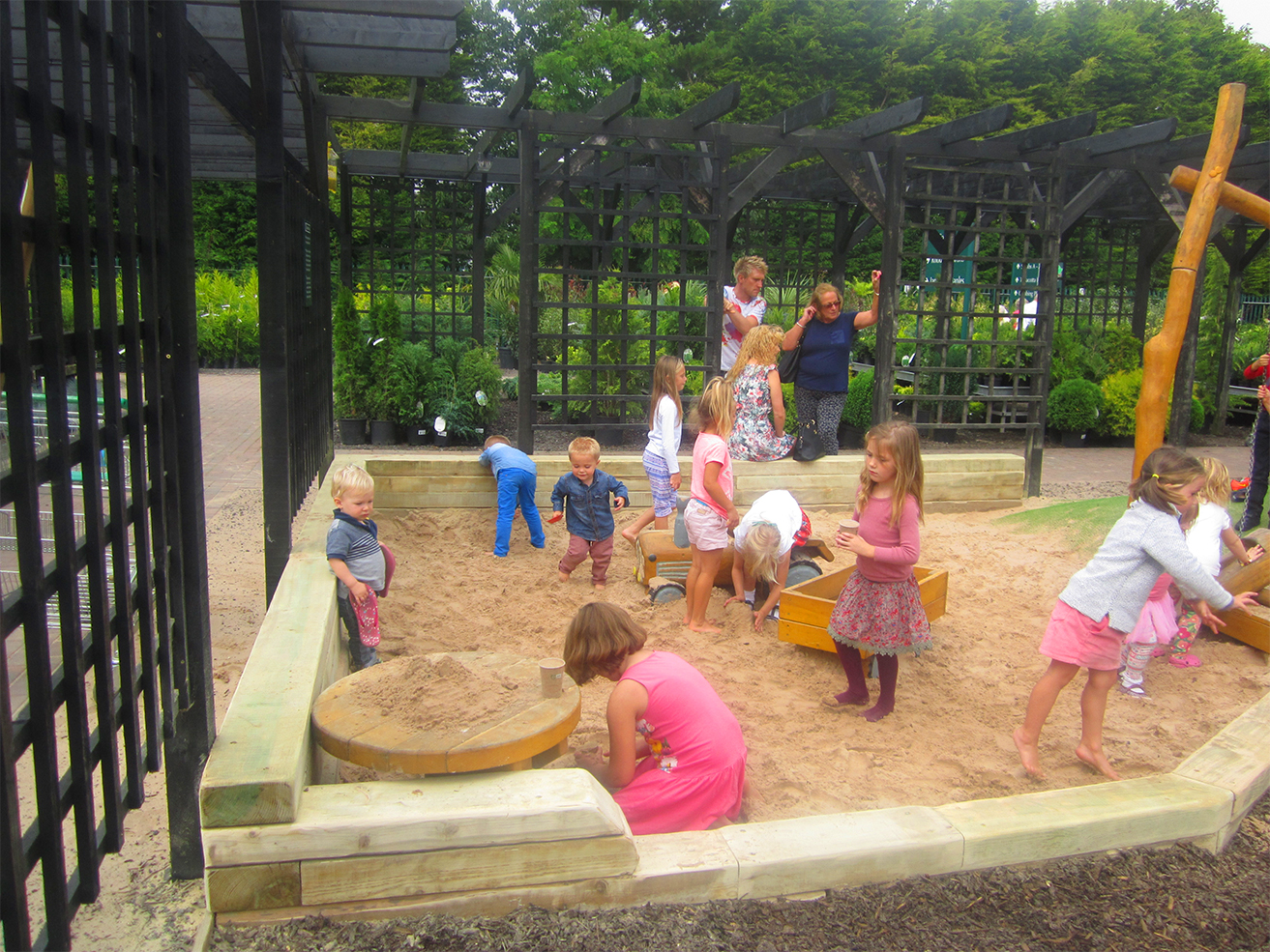 Sand play area, suitable for small children, design, manufactured and installed by The Children's Playground Co. Ltd - CPCL