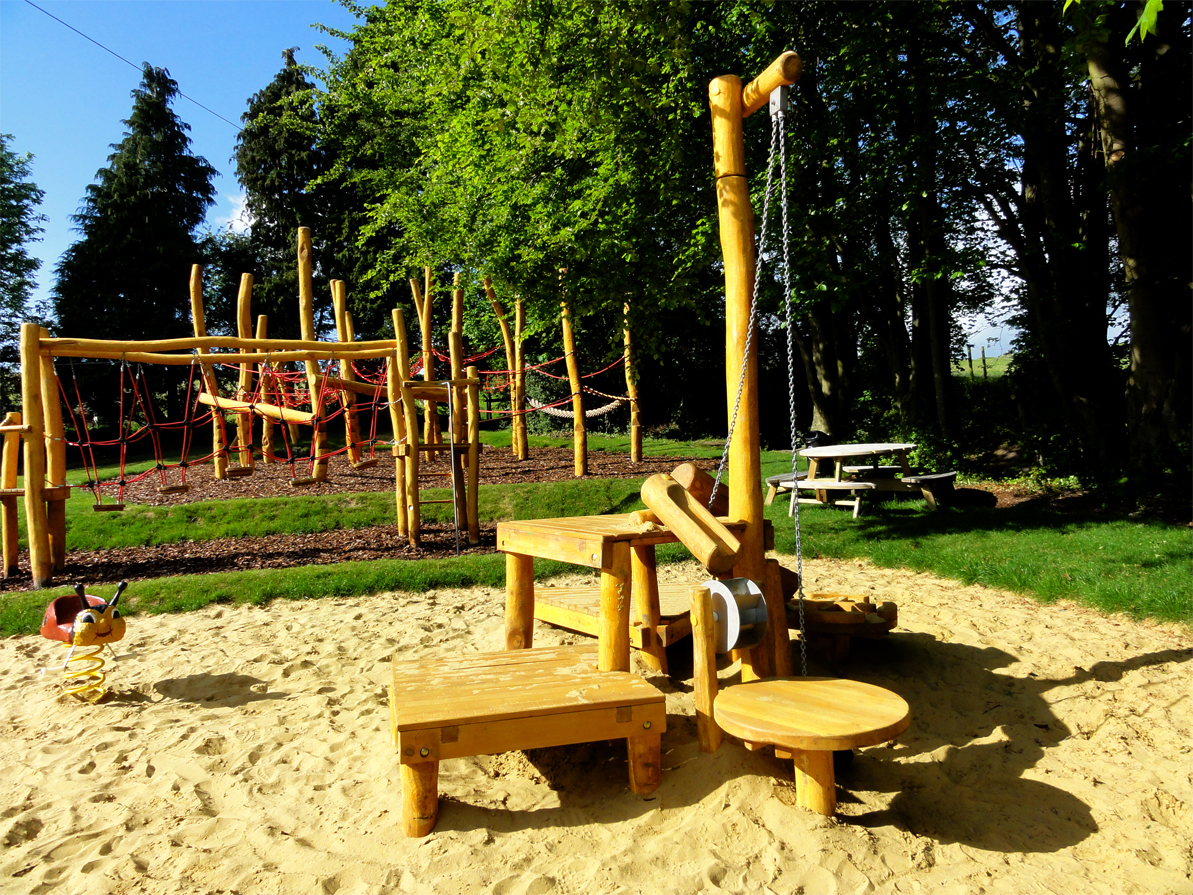 Sand play area for Cherhill in Wiltshire