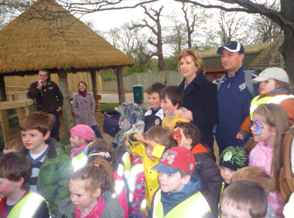 Official opening of the new African Savanna habitat and the belonging Play area, on Thursday 9th of April by the President of Ireland, Mary McAleese
