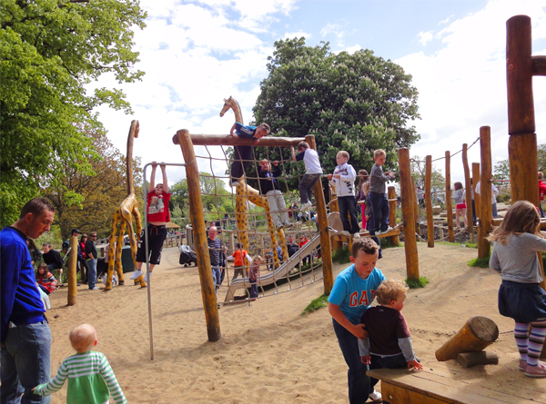 African Savanna, a new Play area for the Dublin Zoo, designed, supplied and installed by The Children's Playground Co. Ltd - CPCL, in 2009