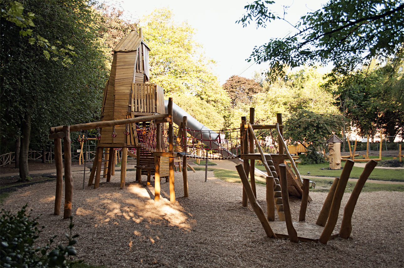Playground for Merrion Square in Dublin, located within the park