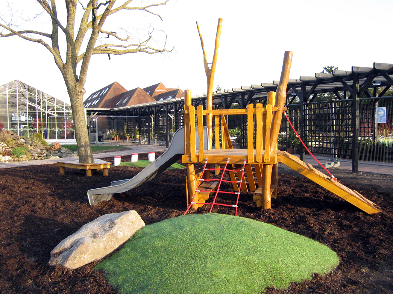 Toddler Playground Of Robinia Timber For Woodcote Green