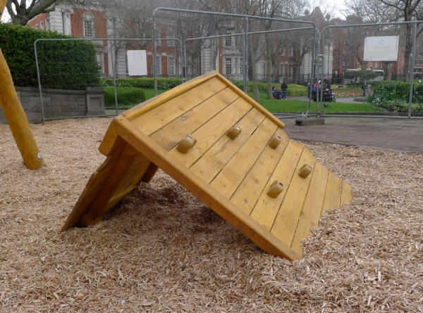 Climbing Cargo Box installed in Dublin St. Patrick's Park playground for small children