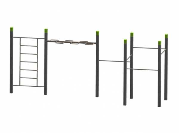 Wall Wave 5 Pull Up Bars The Children S Playground